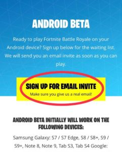 How to play fortnite on android