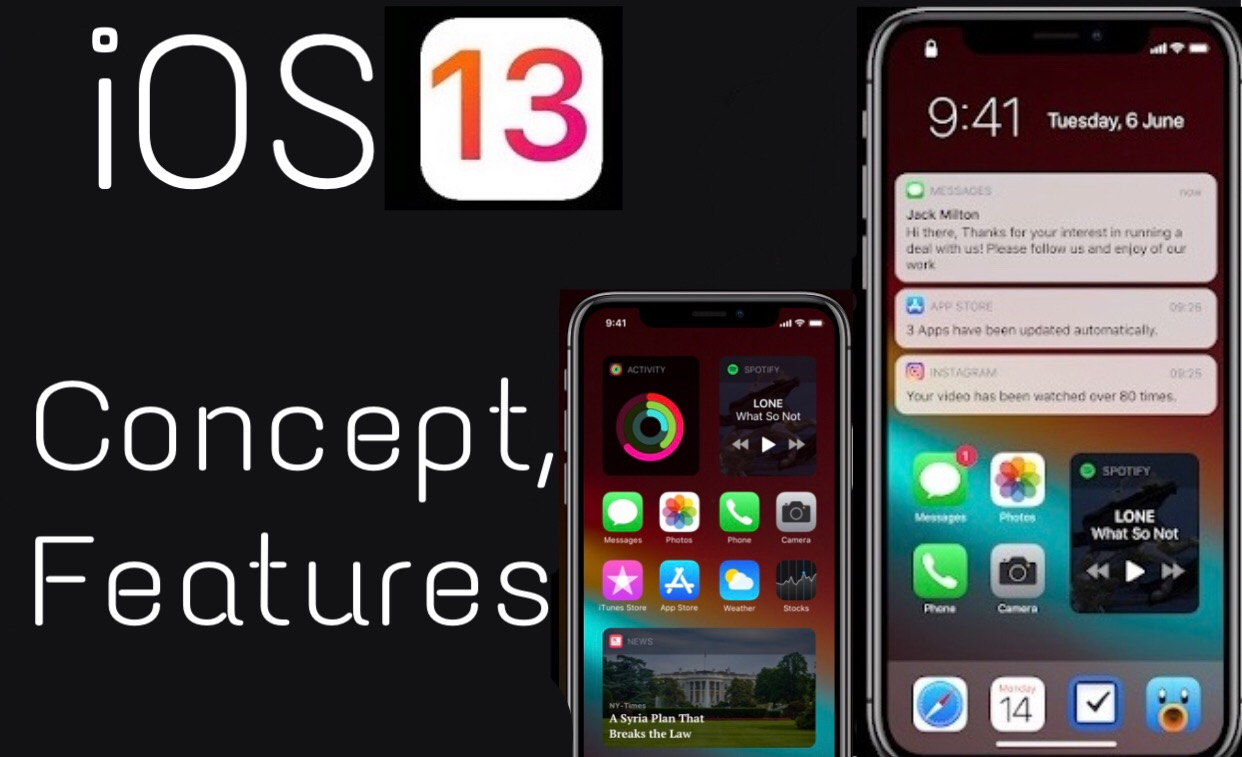 iOS 13 Concept and Features