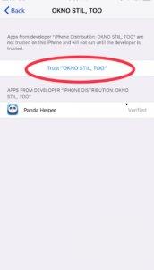 How to Trust an app on iOS 12