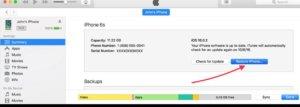Unlock iPhone 6 passcode using itunes