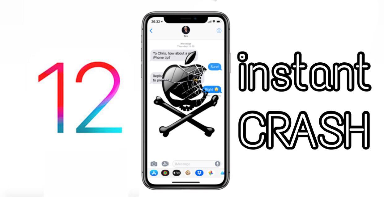 How to crash an iPhone iOS 12