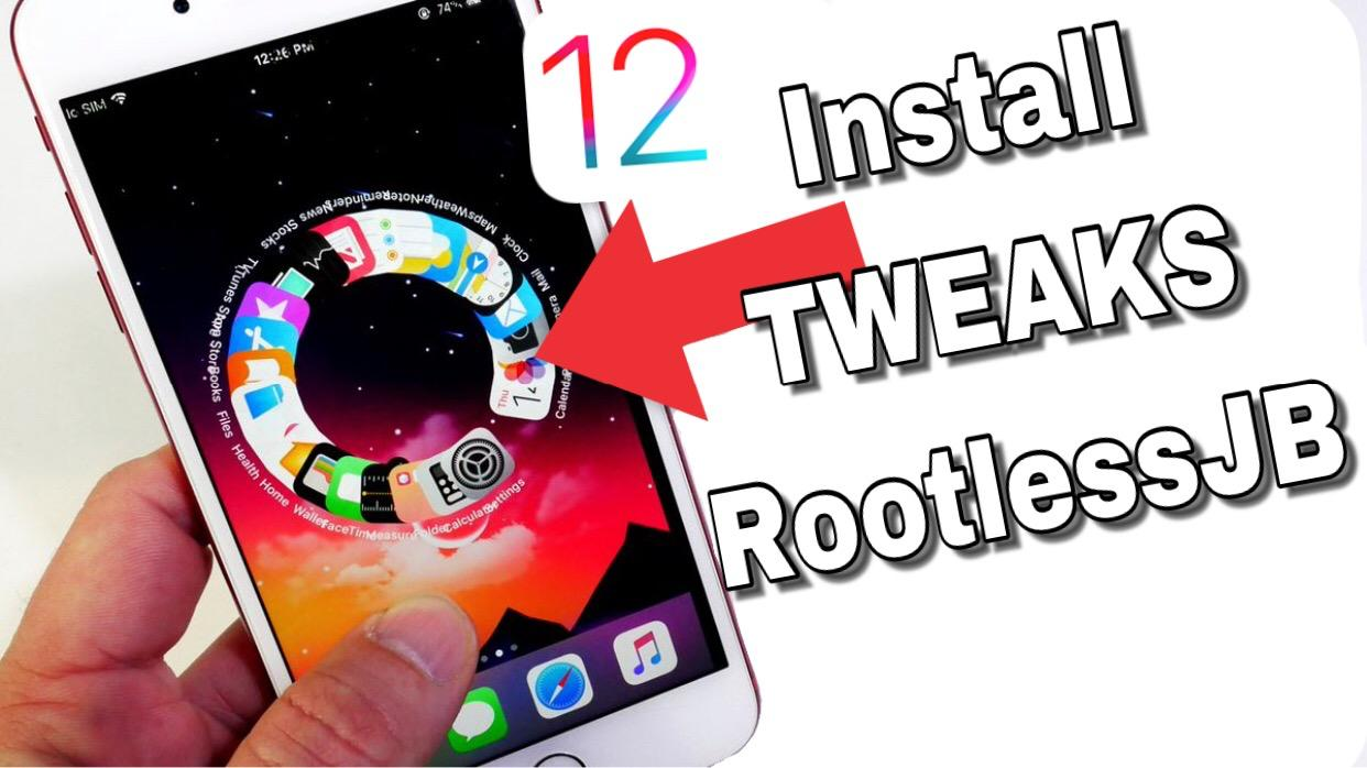 How to install tweaks on rootlessjb iOS 12