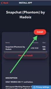 install snapchat ++