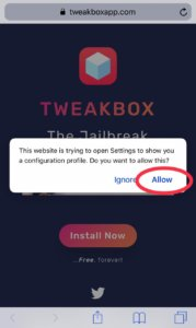 Tweakbox Install
