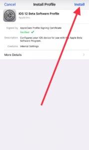 install iOS 12.3 Beta 2 Profile