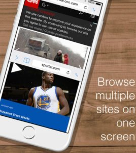 Use Split Screen on iPhone using Split web