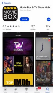 download movie box from App Store