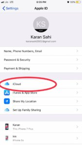How to disable icloud backup