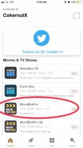 movie box ios 12