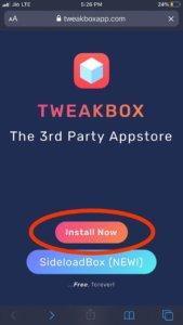 Install tweakbox