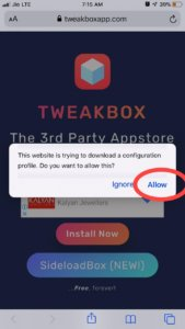 Downloading Tweakbox