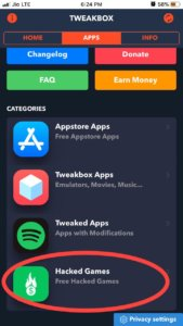 Hacked games iOS