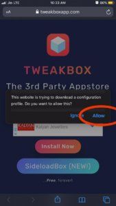 tweakbox installation