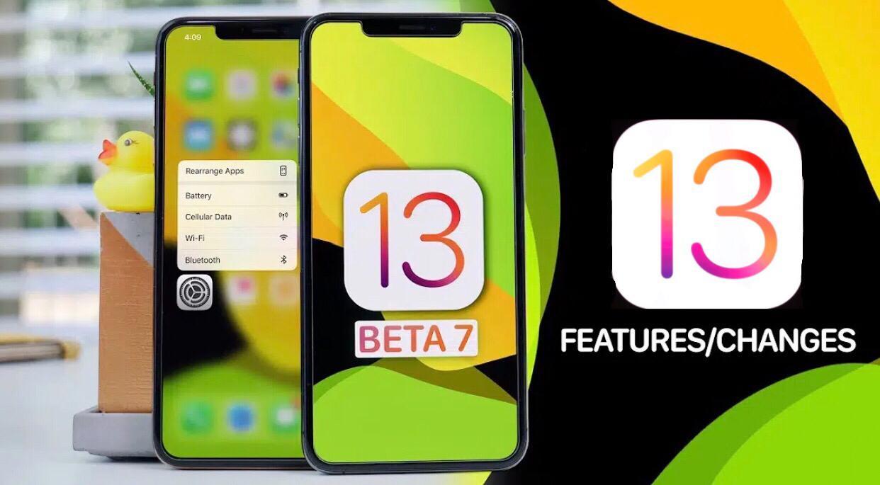 iOS 13 Beta 7 changes