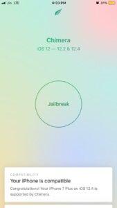 Jailbreak iOS 12.4 with chimera