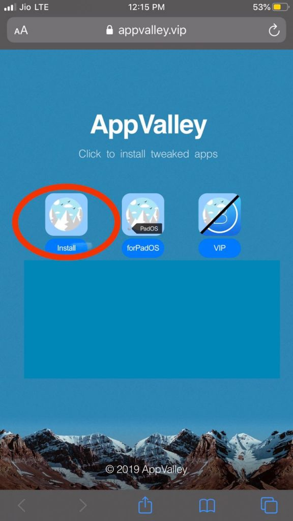Tweaked apps from Appvalley