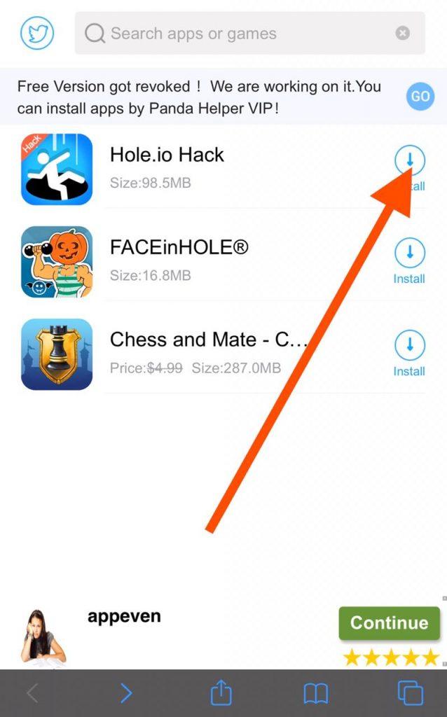 Install hole.io hack