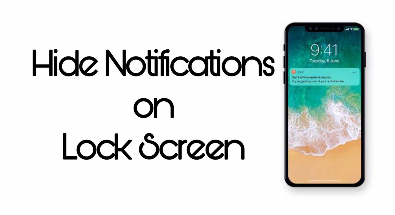 Hide Notifications from lock screen iPhone
