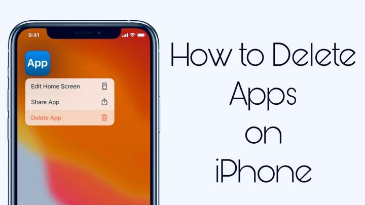 How to delete apps on iPhone iOS 13