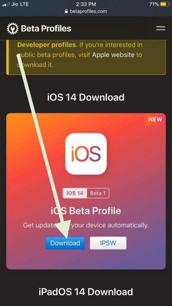 Download iOS 14 Developer Beta Profile Free